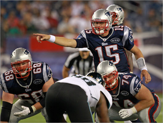 Patriots quarterback Ryan Mallett directed the offense during the second half, completing 12 of 19 passes for 164 yards. The Patriots drafted Mallett our of Arkansas in the third round with the 74th pick in this year's NFL draft.