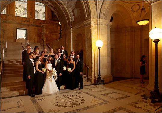 Boston Public Library wedding