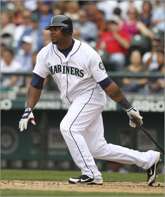 Aug. 14: Mariners 5, Red Sox 3 Red Sox fans likely remember Wily Mo Pena, who was called up from the minor leagues for the Mariners on Sunday. Here, Pena doubled in the seventh inning.
