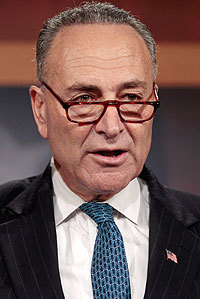 Senator Charles Schumer cited a report on power plant security.