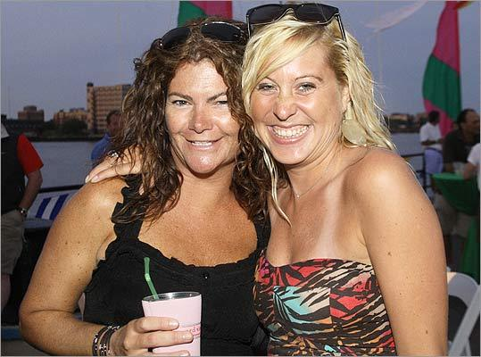 Aug. 13 in Charlestown From left: Marcy Maglio and Robin Allaire, both of Newburyport.