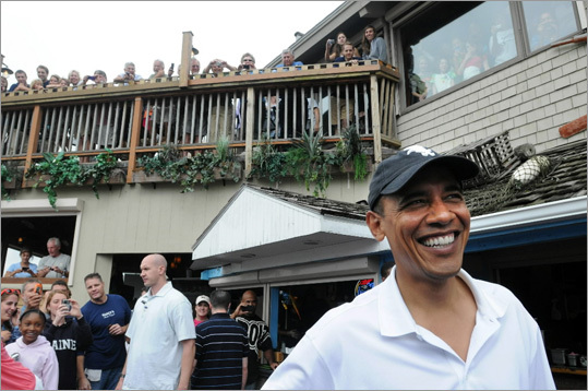 Obama went to lunch at Nancy's Restaurant one day last year.