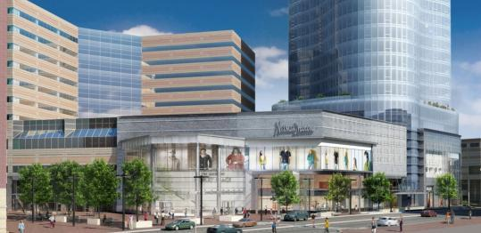 The plan adds 318 residences and enlarges Neiman Marcus.