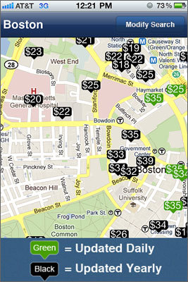 Best Parking Tells you the cheapest parking lots in whatever neighborhood you are going to. Directions, hours and if there are spots available. Submitted by: Chris Whalen, Manchester Free for iPhone | Free for Android