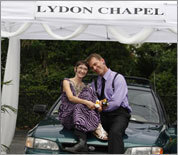 Photos: Drive-through weddings at Lydon Chapel