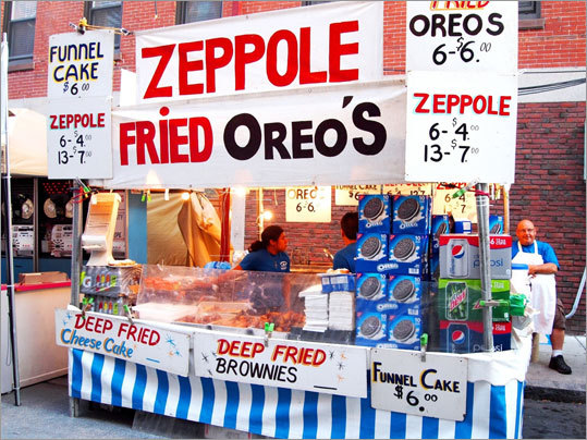 If fruit dipped in chocolate sounded too healthy, it was a short walk to the Zeppole stand featuring everyone's favorite rich desserts made that much more decadent through being battered and deep-fried.