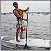 Michael Emery of Somerville did some paddleboarding in Savin Hill Cove.