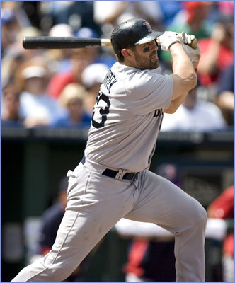 Aug. 21: Red Sox 6, Royals 1 Red Sox catcher Jason Varitek hit an RBI-triple in the fifth inning, his first triple since 2007.