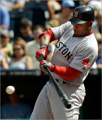 Aug. 21: Red Sox 6, Royals 1 Carl Crawford connected on a solo home run during the seventh inning. The ball traveled 416 feet and was his first home run in 72 at-bats.