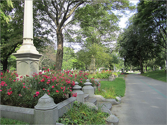 Mount Auburn Cemetery was America's first landscaped cemetery, started in 1831. The site is a national historic landmark.
