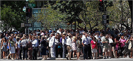 An earthquake centered in Virginia shook the Eastern Seaboard just before 2 p.m., and was felt as a rumble lasting several seconds in the Boston area. Some buildings in the area were evacuated, while officials inspected them, but there were no immediate reports of serious damage. Read story Pictured, people stood in the street in downtown Washington, D.C., after office buildings where evacuated.