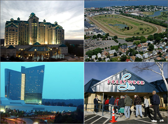 Casino interests are in high gear with the approval of casino gambling in Massachusetts, as nearly a dozen national casino moguls and local developers intensified their jockeying for facilities that would be allowed under legislation approved in November . Learn about some of the entities pursuing development of casinos.