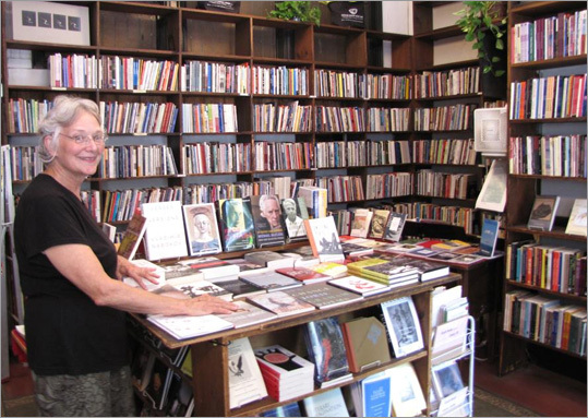 "GROLIER POETRY BOOK SHOP in Harvard Square has books stacked on tables and filling floor-to-ceiling shelves. Said to be the oldest continuous poetry book shop in the United States, the store has had only three owners since its founding in 1927. ""It's a labor of love,'' said Carol Menkiti, whose husband, Ifeanyi Menkiti, a poet and professor of philosophy, bought the bookstore in 2006. Photos of poets who have visited decorate the walls like a rogue's gallery, including E.E. Cummings, T.S. Eliot, Mary Oliver, Caroline Forché, and Robert Pinsky. Tip : The website calendar lists upcoming readings. 6 Plympton St., Cambridge, 617-547-4648, www.grolierpoetrybookshop.org"