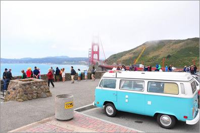California in a Volkswagen bus