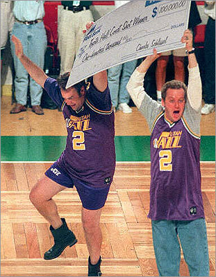 'Celtic Pride' (1996) This comedy, portraying two loyal Celtic fans who kidnap the star player (Damon Wayans) from an opposing team in hopes of securing the NBA championship for Boston, included scenes filmed in Charlestown. At left, a scene from 'Celtic Pride' shows actors Dan Aykroyd and Daniel Stern celebrating on the Boston Garden parquet after Aykroyd's character hit a half-court shot worth $100,000 -- but before he was disqualified for stepping over the line.