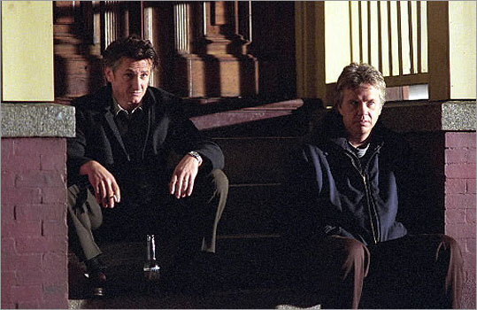 'Mystic River' (2003) The Clint Eastwood-directed film marked the resurgence of movies shot in Boston, which included scenes in Charlestown. The movie, starring Sean Penn, Tim Robbins, and Kevin Bacon, delved into sex abuse and violence at the height of the Catholic Church abuse scandals. At left, actors Sean Penn and Tim Robbins in a scene from 'Mystic River.'