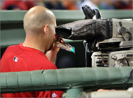 Sept. 1: Yankees 4, Red Sox 2 Kevin Youkilis returned to the Red Sox after a stint on the disabled list because of a strained back, but the only action he saw was a turn behind one of the television cameras. He is eligible to be activated on Friday.