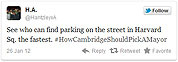 Cambridge turns to Twitter to help pick mayor