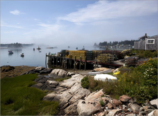 A fog bank off Old Harbor on Vinalhaven.