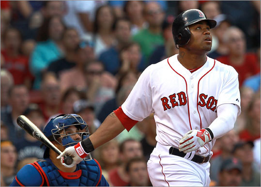 Sept. 3: Red Sox 12, Rangers 7 Carl Crawford's grand slam was the fourth of his career, and his shot off Yoshinori Tateyama gave the Red Sox an 8-3 lead.