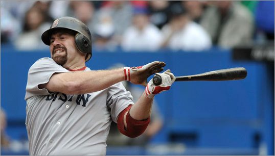 Mon: Blue Jays 1, Red Sox 0 (11 innings) Kevin Youkilis swung and missed at a pitch against Jays starter Henderson Alvarez.