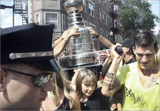 The Stanley Cup was paraded through the North End during Andrew Ference's day with it on Labor Day.