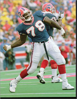 3. Bruce Smith Smith, a born end, is recognized as the all-time sack leader with 200, including 13 seasons in double digits.