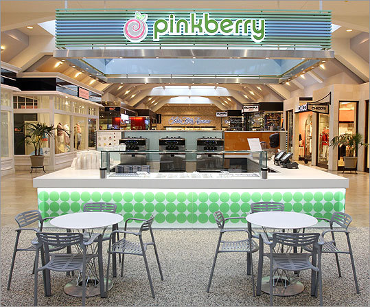 Popular frozen yogurt chain Pinkberry , after opening a store on Newbury street last fall, expanded to the Prudential center this spring. The shop features a host of topping options — from kiwi and cap'n crunch to swirly fortune cookies and watermelon — to add to your frozen yogurt. Prudential Center, 800 Boylston St., Boston. 617-236-2294. www.pinkberry.com Get more detailed information about Pinkberry