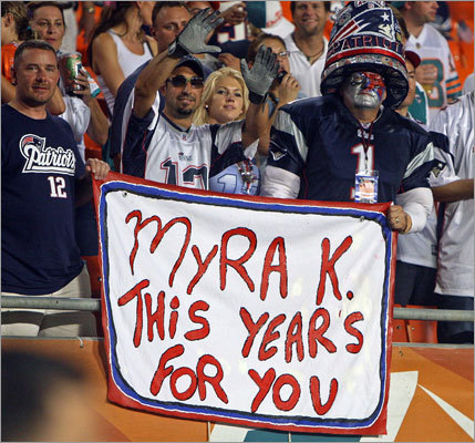 Patriots fans paid tribute to the late Myra Kraft, wife of Patriots owner Robert Kraft. Myra Kraft passed away in July.