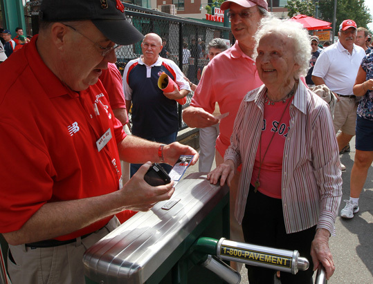 Two locals achieved their biggest dreams recently. The one thing they had in common? Both took place at Fenway Park. Betty Johnson, 88, of Wenham, has lived within a half hour of Fenway Park most of her life. She has seen the Great Wall of China and the Berlin Wall, yet has never seen the famous Green Monster Wall in Fenway Park's left field. That changed August 27 when she saw the Sox versus the A's .