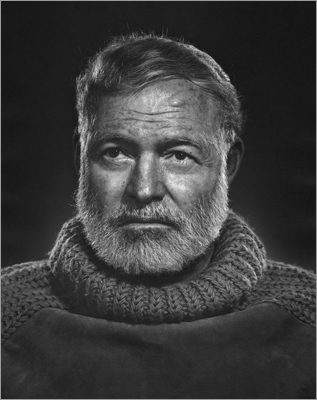 Boston's Museum of Fine Arts and the Boston Public Library have featured Karsh's work in recent years, but when it came to choosing a permanent home for nearly 30 original portraits, Karsh's widow chose to donate them to the Armenian Library and Museum of America in Watertown for its permanent collection. Karsh took this photograph of a stoic Ernest Hemingway in 1957.
