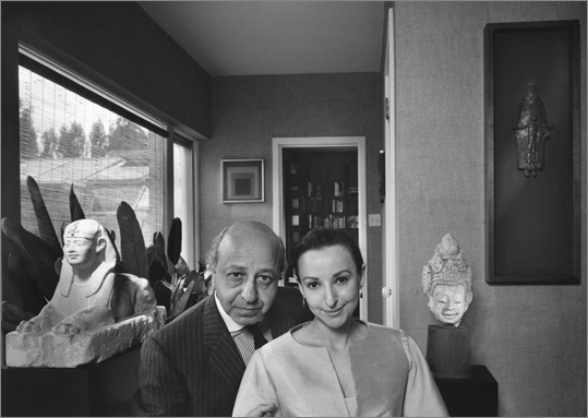 "The library and museum had originally asked only for a loan of several portraits, but Estrellita Karsh decided to make the photos a gift. ""Yousef was so proud of his heritage,' she said. 'He was a citizen of the world, but enormously proud of being Armenian.' This 1967 self-portrait features Karsh and his wife, Estrellita."