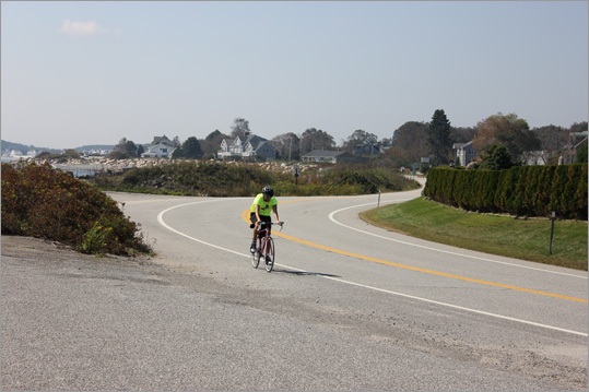 Bikers can enjoy the views while riding along the road.