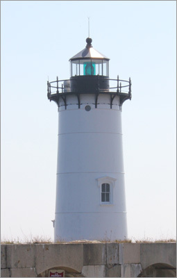 Pictured, a view of Portsmouth Harbor Light as seen from Fort Constitution.
