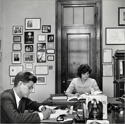 'I think it was, in fact, extremely courageous of [Caroline] to release this material. It speaks to a willingness to trade a more human portrait of her parents for the idealized iconic images - as well as, of course, the harsh and intensely negative depictions also out there.' The president and his wife, pictured on July 1, 1962.