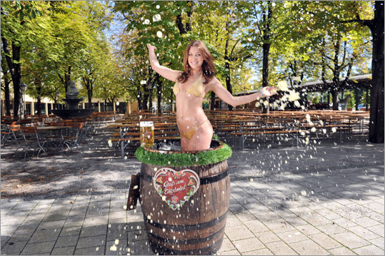 The Wiesn Playmate 2011, Katharina Wyrwich, posed for the cameras earlier this week.