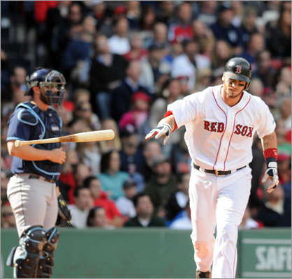 Sept. 18: Rays 8, Red Sox 5 Catcher Jarrod Saltalamacchia flied out in the second inning.