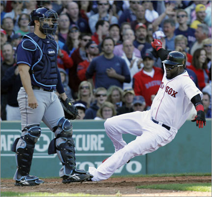 Sept. 18: Rays 8, Red Sox 5 David Ortiz scored on an RBI double by Darnell McDonald in the fourth inning.