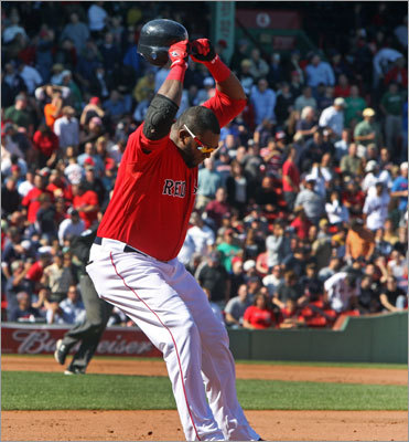 Mon. Game 1: Orioles 6, Red Sox 5 David Ortiz hit a shot down the right field line in the fifth inning, and when it was