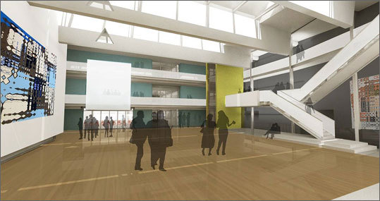 The design and media center, being designed by Ennead Archtiects of New York, will be fashioned out of an existing gymnasium that will get new studios, laboratories, and classroom space.