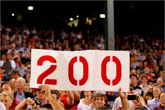 Tim Wakefield After winning No. 199 on July 24, it took Wakefield nine starts to earn his 200th win on Sept. 13. In that time the Red Sox went 24-24 and went from three games up to four games behind in the AL East. In the games he started, Wakefield had a 5.09 ERA. Obviously the Sox' record can't all be blamed on Wakefield, but it needs to be noted that while the Sox were allowing their beloved veteran to chase an individual record, the team was going into a tailspin.