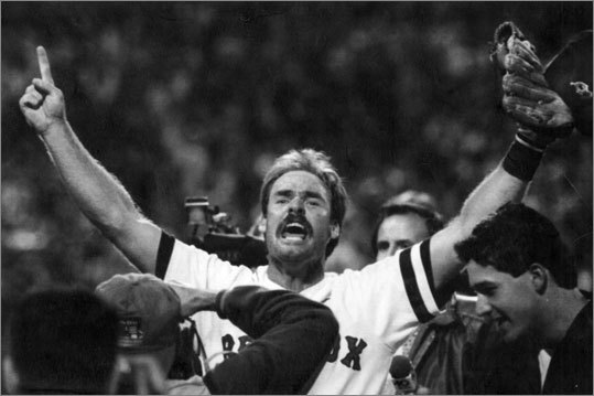 1990: Before the wild card was introduced in 1995, you had the win the division to get to the postseason. From Sept. 15 forward, the Red Sox never led the AL East by more than two games over the Blue Jays. It came down to the final weekend of the season at Fenway, where Wade Boggs (pictured) and the Red Sox squared off against the Chicago White Sox, who were a distant second in the AL West. In the season finale, with a playoff spot for Boston still in question, Red Sox right fielder Tom Brunansky made a diving catch of Ozzie Guillen's line drive in the ninth inning to seal the win, sending the Sox to the playoffs as the AL East champs.