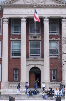 English: Boston Latin, Boston One again, Boston Latin did exceptionally well, with 285 students tested.