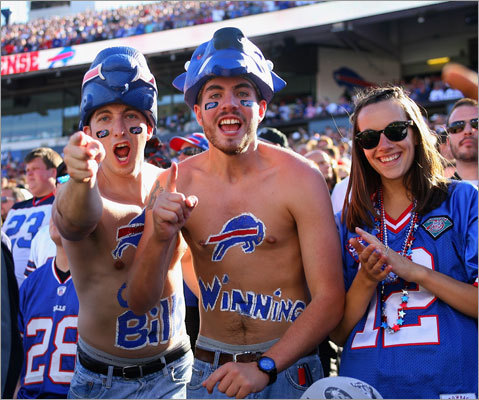 Bills fans haven't had much reason to be happy in recent years -- but the start to this season has been one worth enjoying. Buffalo hosts the Patriots Sunday with a 2-0 record -- just the second time in the past eight seasons they've won their first two games. Quarterback Ryan Fitzpatrick has led an offense that is first in the NFL in points (79) and seventh in total offense (422.5 yards per game). A victory over the Patriots -- who have beaten them 15 straight times -- would really give Buffalo fans cause for celebration. Here are five other things to know about the Bills.