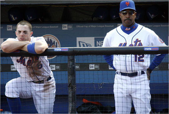 &#146;07 Mets Infielder David Wright (left), manager Willie Randolph and the Mets had a seven-game lead over the Phillies with 17 games left, setting the stage for one of the most epic collapses in baseball history. The Phillies promptly swept the Mets in New York to cut the lead in half, and then the Mets lost 10 of their next 15 games. The Phillies and Mets were tied heading into the last game, but the Phillies beat the Nationals and the Mets lost to the Marlins. The Phillies made the playoffs, and the Mets didn&#146;t.