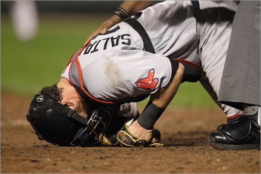 How much blame should be on Saltalamacchia?