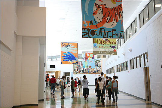 3. Education administrator Remember that feeling when you had to go to the principal's office? It takes a lot of energy to create that. Left: The inside of Newton North High School on its opening day.