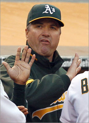Bob Geren The former catching coach for the Red Sox was fired in June from his post as manager of the A's. He had a 334-376 record in Oakland from 2007 to 2011, but had been criticized for his communication skills. His best finish was second in the AL West in 2010.