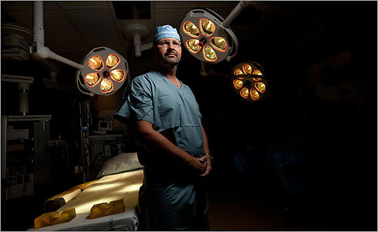Dr. Bohdan Pomahac in the operating room at Brigham and Women's Hospital