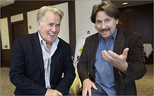 Actors Martin Sheen and his son Emilio Estevez visited the Ritz Carlton Boston Hotel in September to talk about their new movie 'The Way.'